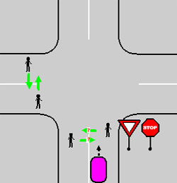 проезд перекрестка под знаком уступи дорогу